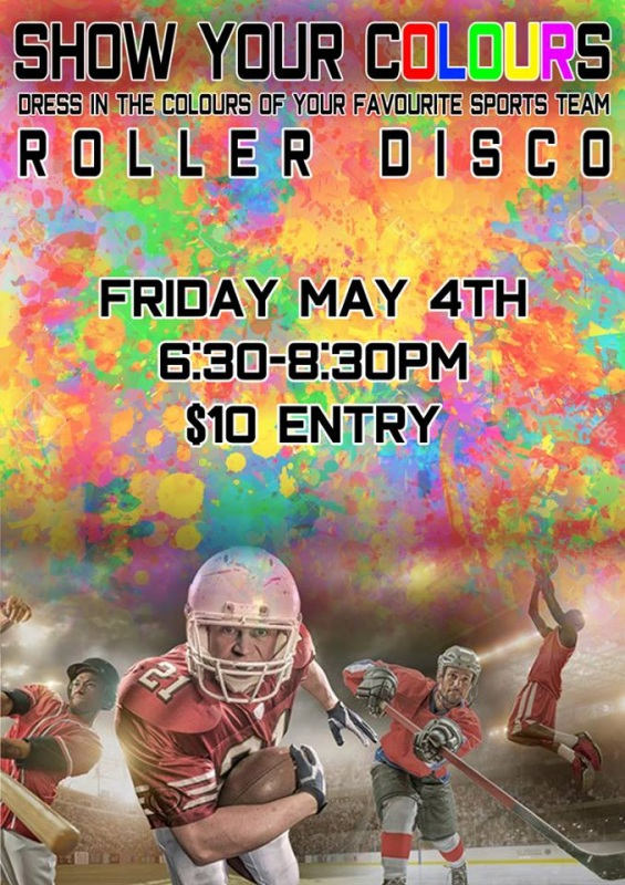 Favourite Colour Roller Disco - Friday 4 May 2018